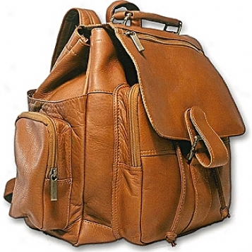 David King Leather Luggage Top Handle X Large Backpack