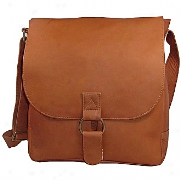 David King Leather Luggage Vertical Laptop Messenger Bag