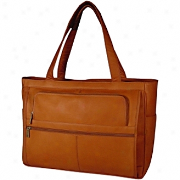 David King Leather Luggage Women's Multi Pocket Laptop Brief