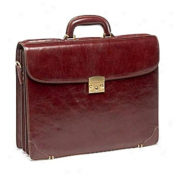 Goodhope Business Briefcase Collection Leather Triple Gusset Flap Brief