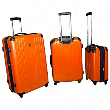 Heys Usa Lightweight Luggage And Business Cases 4wd 3-piece Spinner Set