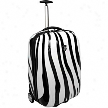 Heys Usa Lightweight Luggage Andd Business Cases Xcase Exotic Zebra 20in. Wheeled Carry