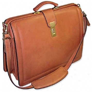 Jack Georges Beltiing Leather Collection Classic Brisfbag W/shoulder Strap