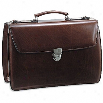 Jack Georges Elements Triple Gusset Flap Over Briefcase