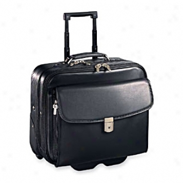 Jack Georges Metropolitan Light Collection Business Case On Wheels With Built-in Computer Sleeve