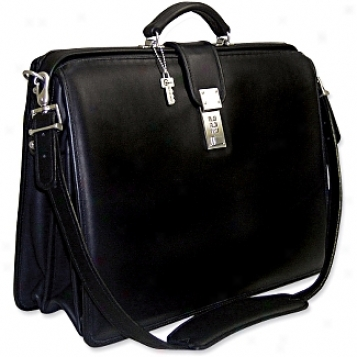 Jack Georges Plaatinum Collection Classic Briefbag W/shoulder Strap