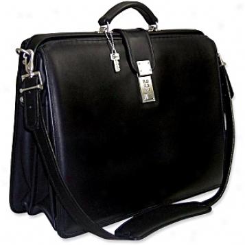 Jack Georges Plaatinum Collection Classic Briefbag W/shoulder Strap