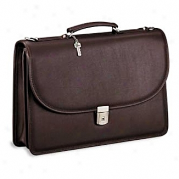 Jack Georges Platinum Collection Single Gusset Flap Over W/ Nickle Hardware