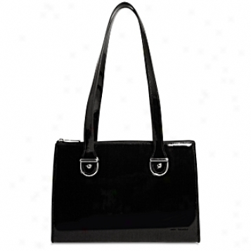 Jack Georges The Patent Assemblage Top Zip Shoulder Handbag