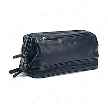 Kenneth Cole Accessory Collection Wide Mouth Travel Kit W/ Zip Lowest part