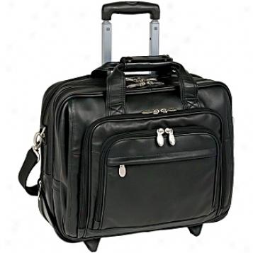 Mcklein Usa I Series Leather Detachable Wheeled Laptop Case