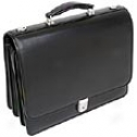 Mcklein Usa I Series Leather Triple Compartment Briefcase