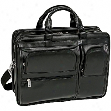 Mcklein Usa P Series Hubbard Leather Double Compartment Laptop Case