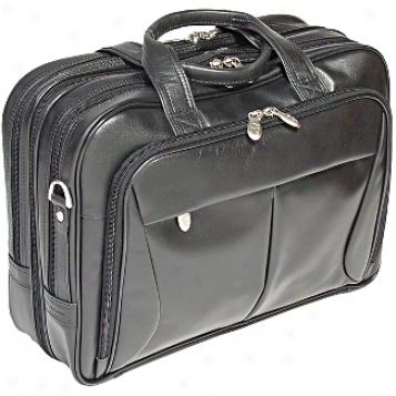 Mcklein Usa R Series Leather Expandable Double Compartment Briefcase
