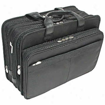 Mcklein Usa R Series Nylon 17in. Exp. Double Compartment Laptop Case