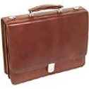 Mcklein Usa V Series Leather Double Compartment Briefcase