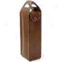 Mulholland Brothers All Leather  Deco Single Bottle Wine Carrier