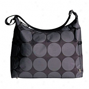 Oioi Sophisticated Baby Bags Black, Charcoal & Lime Dot Hoho Diaper Bag