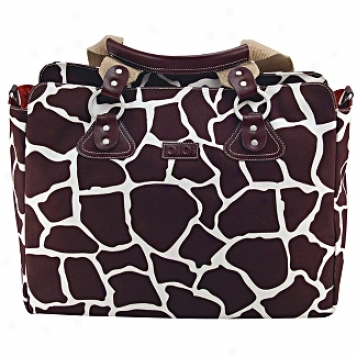 Oioi Sophisticated Baby Bags Giraffe Print Tote