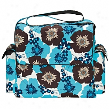 Oioi Sophisticated Baby Bags Pansy Messenger Diaper Bag