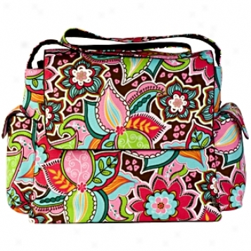 Oioi Sophisticated Baby Bags Pink Floral Boiquet Messenger Diaper Bag