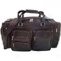Piel Leather  Goods     20in. Duffel Bag W/pockets