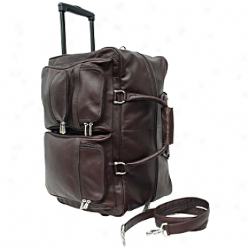 Piel Leather  Goods     21in. Soft Carry-on Wheeler