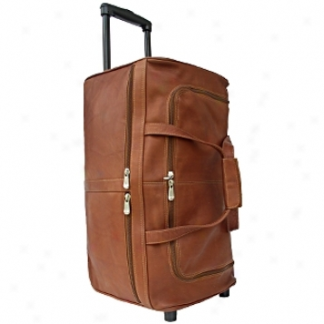 Piel Leather  Goods     22in. Duffel On Wheels