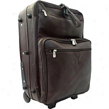 Piel Leather  Goods     22in. Wheeed Traveler