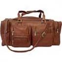 Piel Leather  Goods     24in.. Duffel W/pockets