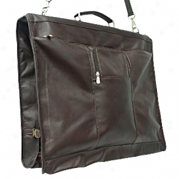 Piel Leather  Goods     40in. Elite Garment Bag