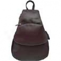 Piel Leather  Goods     Flap-over Sling Leather Backpack