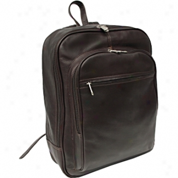 Piel Leather  Goods     Front Pocket Computer Backpack