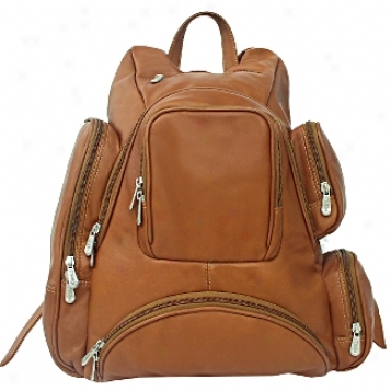 Piel Leather  Goods     Multi Pocket Backpack