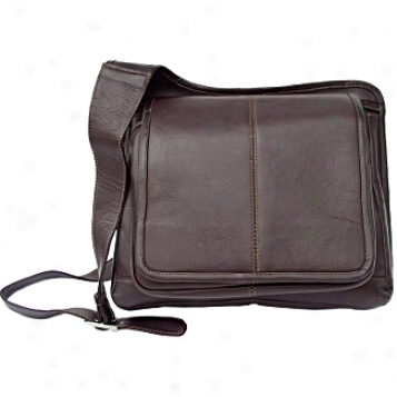 Piel Leather  Goodss     Slim Line Flap-over Ladies Bag