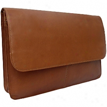 Piel Leather  Goods     Three Section Flap Portfolio