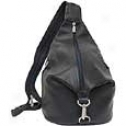 Piel Leather  Goods     Thr3e-zip Hobo Sling