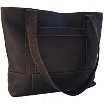 Piel Leather  Goods     Top-zip Tote