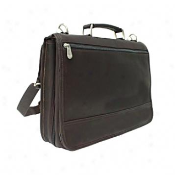 Piel Leather  Goods     Two Section Expandable Portfolio