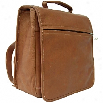 Piel Leather  Goods     Vertical Flap-over Backpack