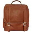 Piel Leather  Goods     Vertical Leather Backpack
