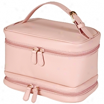 Royce Leathre  Leather Ladies Cosmetic Travel Case