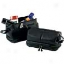 Royce Leather  Toiletry Bag W/ Zippered Bottom Compartment
