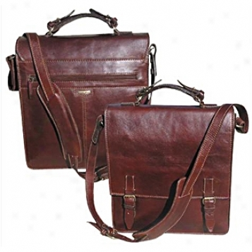 Scully  Leather Goods              Flapover Briefcase