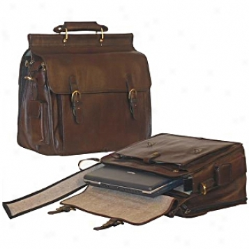 Scully  Leather Goods              Flapover Computer Briefcase