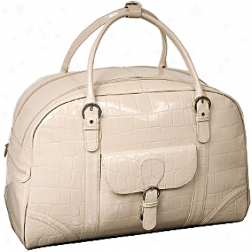 Siamod Monterosso Buranco Leather Ladies'  20in. Duffel Bag