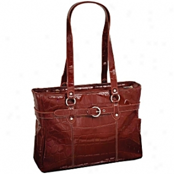 Siamod Motnerosso Serra Leather Ladies' Laptop Tote