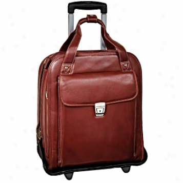 Siamod Vernazza Pastenello Leather Vertical Detachable Wheeled Laptop Case