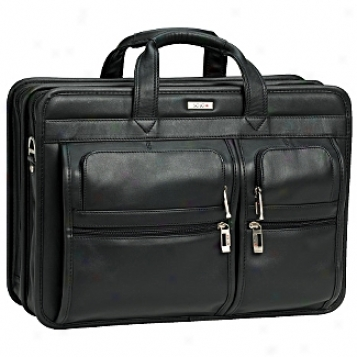 Solo Business Briefcases Full Grain Leather Computer Friendly Portfolio
