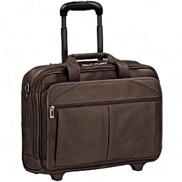 Solo Business Briefcases Leathre Rolling Computer Case